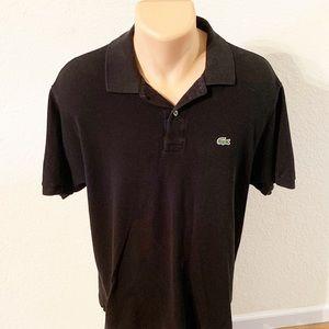 Lacoste | Black Short Sleeve Polo SZ XL